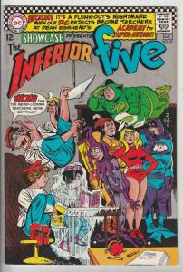 Showcase #65 (Dec-66) NM- High-Grade The Inferior Five (Merryman, the Blimp, ...