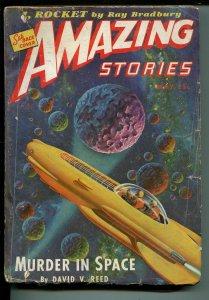 Amazing Stories 5/1944-Ziff-Davis-pulp sci-fi-rocket cover-Ray Bradbury-Smith-G-