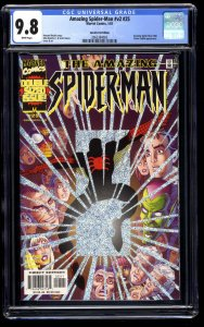Amazing Spider-Man (1999) #25 CGC NM/M 9.8 White Pages Speckle Foil Edition!