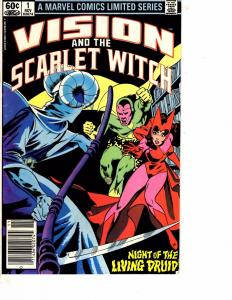 Lot Of 2 Comic Books Marvel Vision Scarlet Witch #1 and Transformers #13  ON11