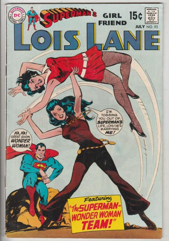 Lois Lane, Superman's Girlfriend  #93 (Jul-69) FN/VF Mid-High-Grade Superman,...