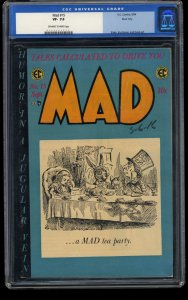 Mad #15 CGC VF- 7.5 Off White to White River City Alice in Wonderland!