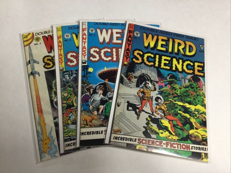 EC Comics Weird Science 1-4 1 2 3 4 Nm Near Mint Reprints