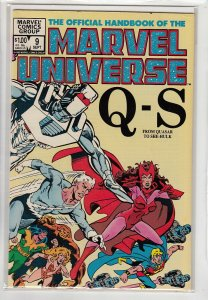 OFFICIAL HANDBOOK OF THE MARVEL UNIVERSE (1983 MARVEL) #9 FN A17065