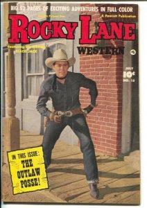 Rocky Lane Western #15 1950-Fawcett- B-Western movie star photo cover-FN-