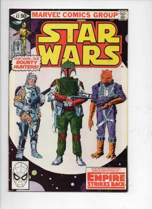 STAR WARS #42, VF+, Luke Skywalker, Boba Fett, Darth Vader, 1977, more in store