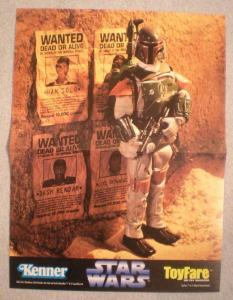 STAR WARS Promo Poster, BOBA FETT, 10x13, Unused, more in our store