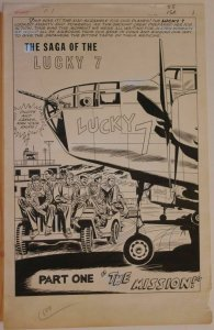 MIKE SEKOWSKY / FRANK GIACOIA / JOE GIELLA, original art, FIGHT #1, Splash, 1966