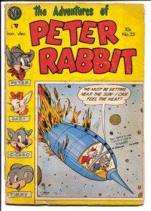 Peter Rabbit #25 1954-Avon-funny animals-Peter Rabbit-rocket cover-FR