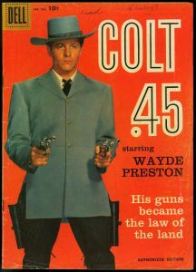 COLT 45 -FOUR COLOR COMICS #924 1958-DELL TV WESTERN VG