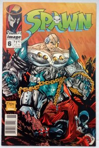Spawn #6 NEWSSTAND(VF)(1992)