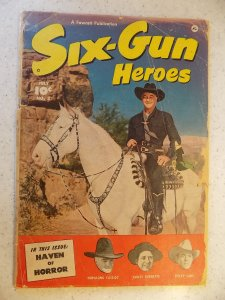 SIX-GUN HEROES # 3 GOLDEN AGE WESTERN HOPALONG LANE LARUE