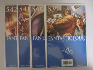 Fantastic Four (1998 3rd Series) #539-542 Set - 8.0 VF - 2006