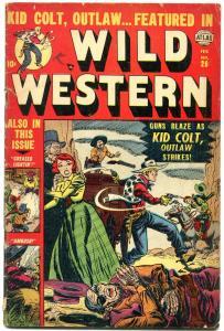 Wild Western #26 1953- Ringo Kid- Kid Colt VG-