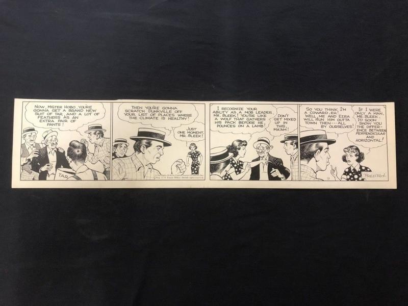 Fred Fox Original Daily Comic Strip Art #9 1936- unpublished?