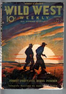 WILD WEST WEEKLY 2/11/1939-WESTERN PULP-JOHNNY 45 G/VG