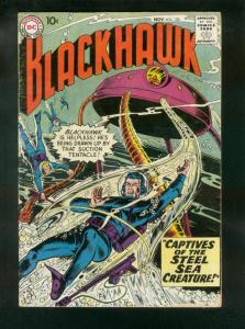 BLACKHAWK COMICS #130 1958-DC COMICS-STEEL SEA CREATURE-fine minus FN-