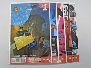 Winter Soldier Bitter March set #1 to #5 8.0 VF 5 different books (2014)