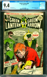 Green Lanter #85 CGC Graded 9.4 speedy revealed as a junkie. Anti-drug story