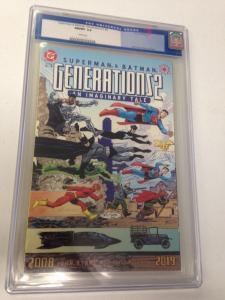 Superman & Batman: Generations II #4 CGC 9.8 Old label (Case Cracked)