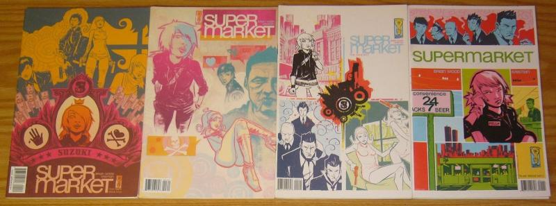 Supermarket #1-4 VF/NM complete series - brian wood - idw comics set lot 2 3
