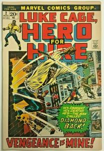 LUKE CAGE HERO FOR HIRE#2 FN/VF 1972 MARVEL BRONZE AGE COMICS
