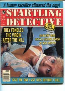 STARTLING DETECTIVE -JAN 1986-HARD BOILED-SPICY-MURDER-RAPE-STRANGULATION G/VG
