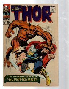 Mighty Thor # 135 VG Marvel Comic Book Loki Odin Asgard Sif Avengers Hulk RB8