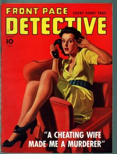 FRONT PAGE DETECTIVE PULP-JAN 1942-KING OF SPADES-GOOD GIRL ART-VF CONDITION! VF