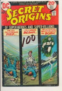 DC Secret Origins #3 & #5 VG+ (4.5) Wonder woman Wildcat Spectre 2 books (484J)