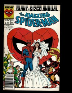 Amazing Spider-Man ANNUAL # 21 NM Marvel Comic Book Wedding Mary Jane GB4
