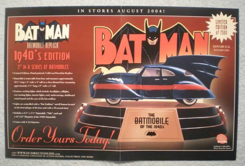 BATMAN BATMOBILE REPLICA Promo poster, 2004, Unused, more in our store