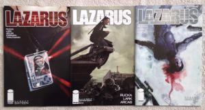LAZARUS - Three (3) Issue Lot - #16, #17, #19 - by Rucka (Gotham Central)