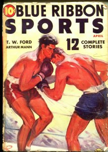 BLUE RIBBON SPORTS 04/1939-DOUBLE ACTION-BOXING-PULP THRILLS-good/vg