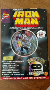 1st Edition Iron Man CD Rom Comic Book by ToyBiz