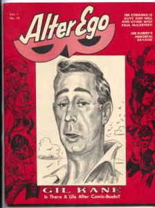 Alter Ego Fanzine  #10 1969-GIL KANE-WALLY WOOD-SEULING-KUBERT FN