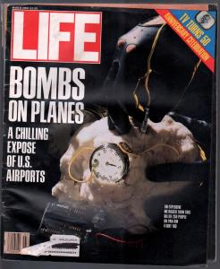Life 3/1989-Time-bombs on planes-Jerome Robbins-Clint Eastwood-VG