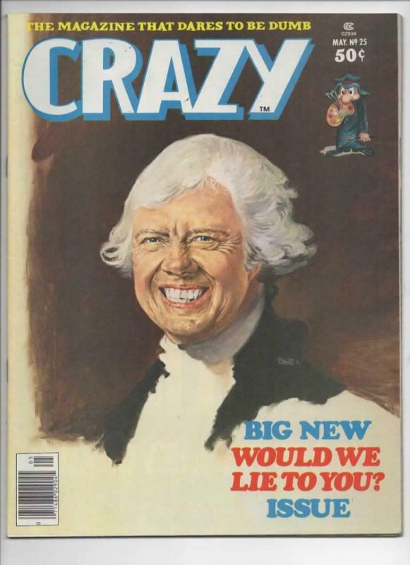 CRAZY #25 Magazine, FN+, Jimmy Carter, Logan's Run, 1973 1977, more in store
