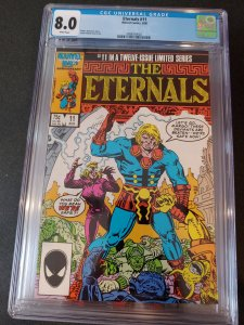 ​ETERNALS #11 CGC 8.0 WHITE PAGES