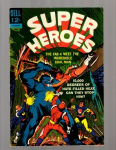 Super Heroes # 3 FN Dell Silver Age Comic Book Fab 4 Coal Man Hate Heat JK7