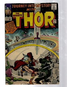 Journey Into Mystery # 111 FN Marvel Comic Book Thor Loki Odin Asgard Sif RB8