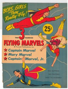 Famous Flying Marvels punch-out paper dolls, unused