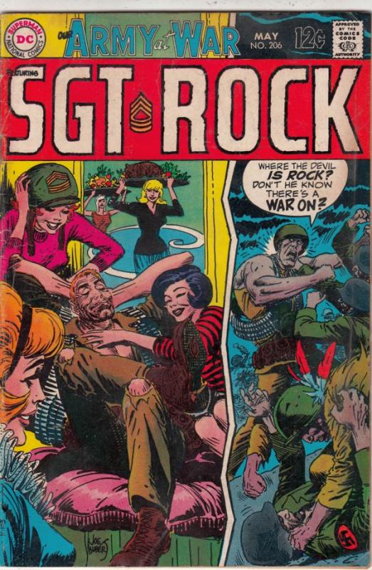 Our Army at War #206 (May-69) VG/FN Mid-Grade Easy Company, Sgt. Rock