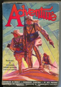 Adventure 6/15/1931-Butterick-pulp stories-Hubert Rogers cover-Howard Ellis D...
