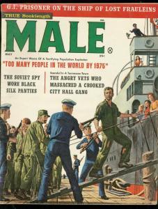 MALE PULP MAY 1961-SOVIET SPY-KUNSTLER-CHEESECAKE-WW II FN
