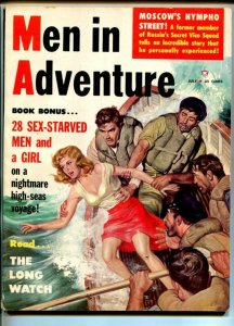 MEN IN ADVENTURE #2-JULY-1959-PULP THRILLS-SPICY-TERROR-CHEESECAKE-CRIME-good-