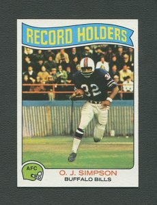 1975 Topps Football /  OJ Simpson #355 /  NM-MT++