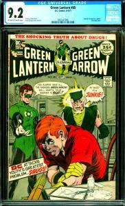 Green Lantern #85 CGC 9.2 Speedy revealed as a junkie.