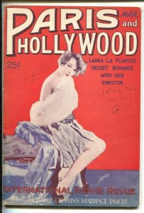 Paris and Hollywood 3/1927-Charlie Chaplin-Laura La Plante-pulp fiction-FR