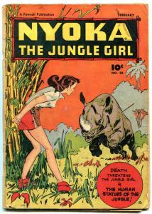Nyoka The Jungle Girl #28 -RHINO COVER-Fawcett Golden Age VG